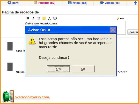 Avisos que deveriam ter no Orkut 2