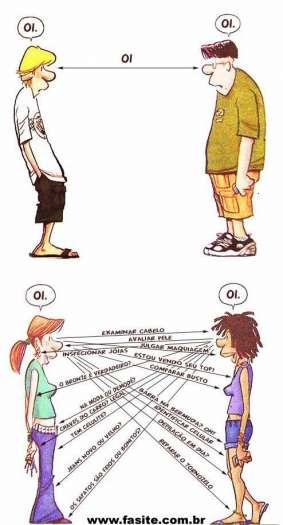 Diferenças do Oi Masculino e Oi Feminino 1