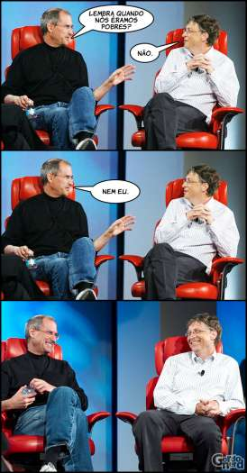 Steve Jobs vs. Bill Gates - stevejobs billgates 1