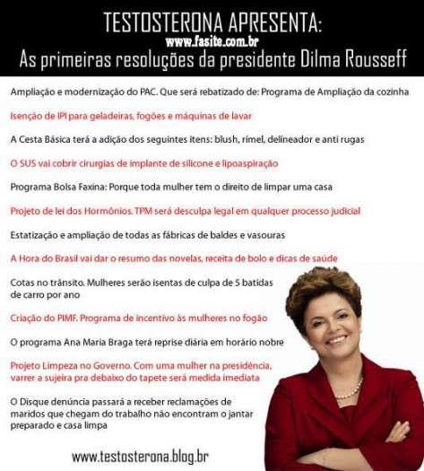 As primeiras resoluções da presidente Dilma Rousseff 1