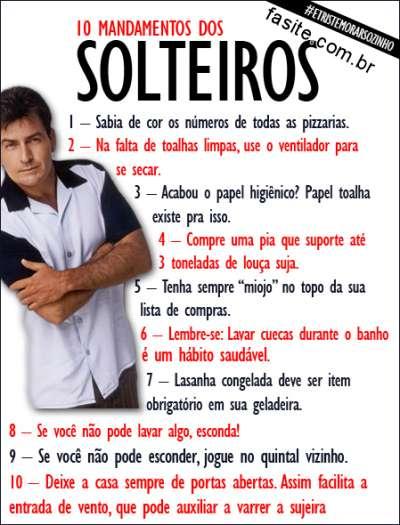 10 Mandamentos dos Solteiros 1