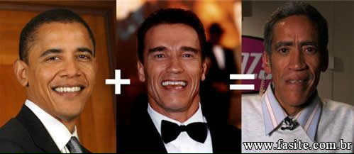 Photo of Obama + Schwarzenegger = Ted Williams