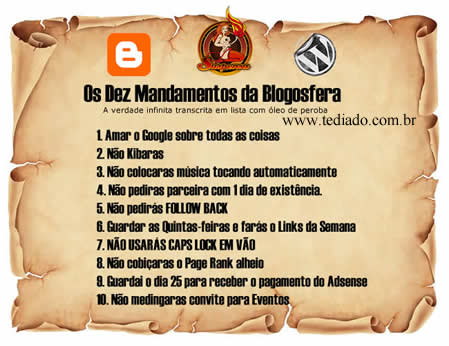 Photo of Os Dez Mandamentos da Blogosfera