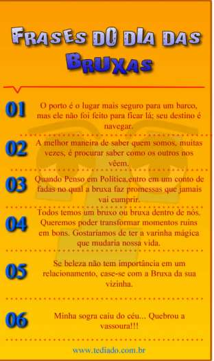 Frases Do Dia Das Bruxas Blog Tediado