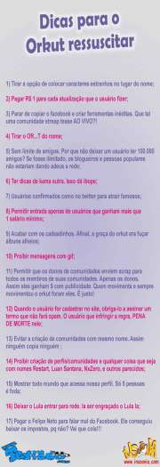 Photo of Dicas para o Orkut ressuscitar!