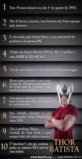 10 curiosidades sobre Thor Batista 1