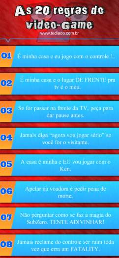 Photo of As 20 regras do Video-Game