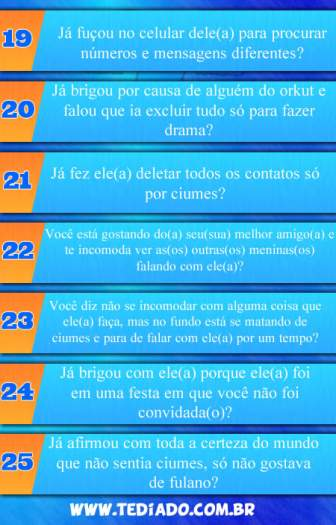 Os 25 sintomas de ciumes 10