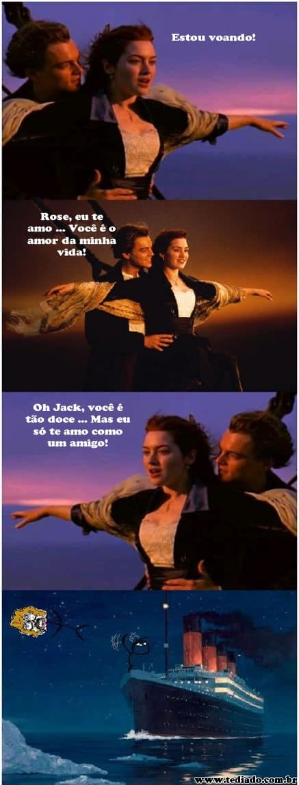 Level da amizade: Titanic