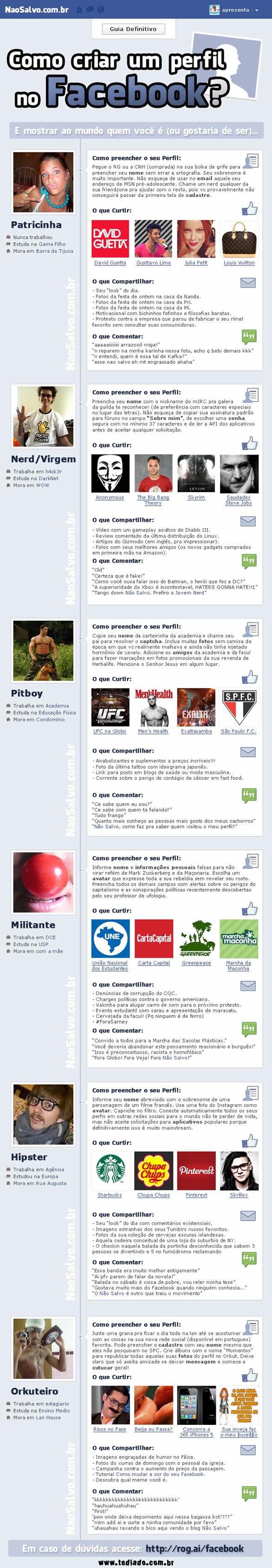 Como criar um perfil no Facebook 3