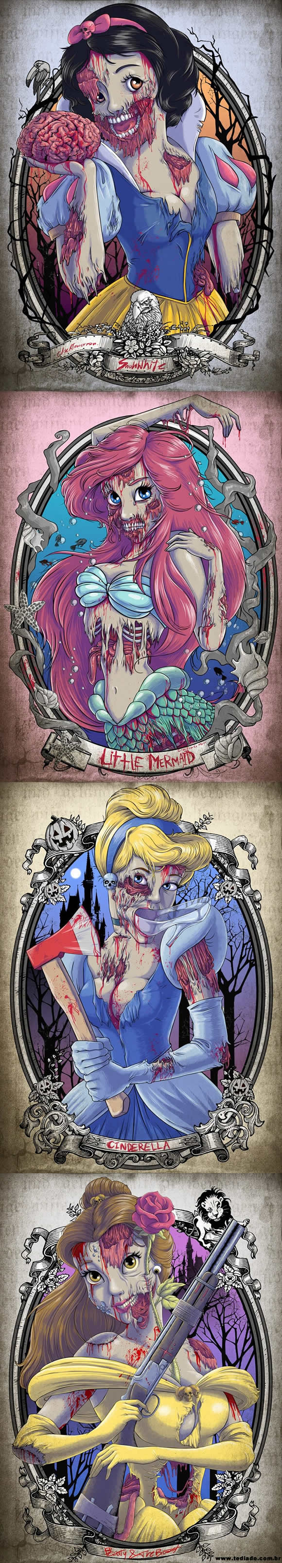 As Princesas da Disney Zombie - as princesas da disney zombie - As Princesas da Disney Zombie