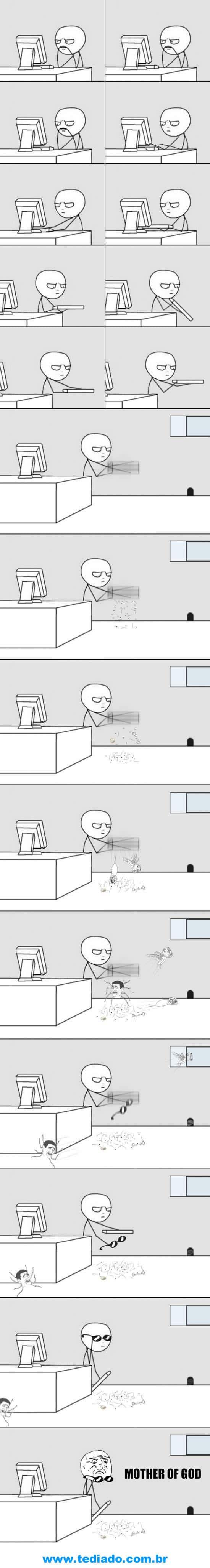 Quando eu decidi limpar meu teclado. 4