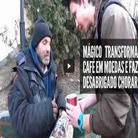 Mágico transforma café em moedas 1