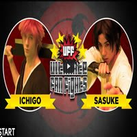 Naruto vs Bleach (Sasuke vs Ichigo) na vida real - naruto bleach