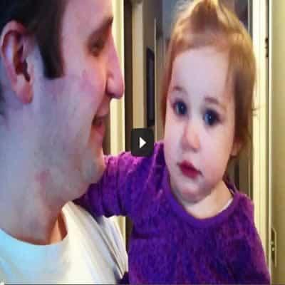 Bebê não reconhece seu pai, após ele fazer a barba 37