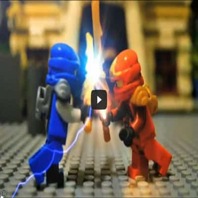 Ninja Jay VS Kai –  Stop motion