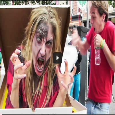 Pegadinha - Pizza free com Zumbi 4