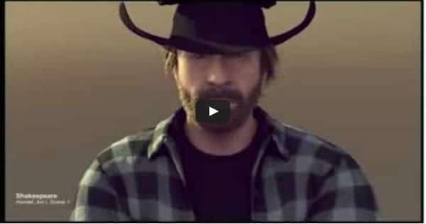 Mais uma paródia do comercial do Van Damme, agora com Chuck Norris 1