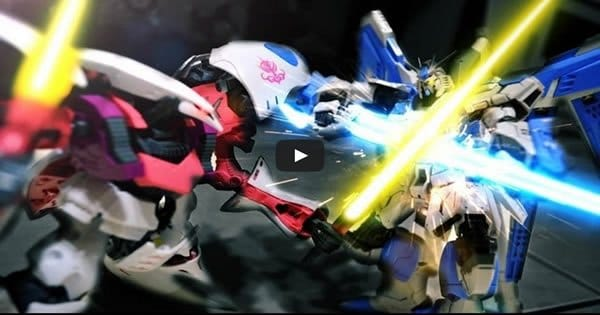 Gundam stop motion - Toys Battle 2