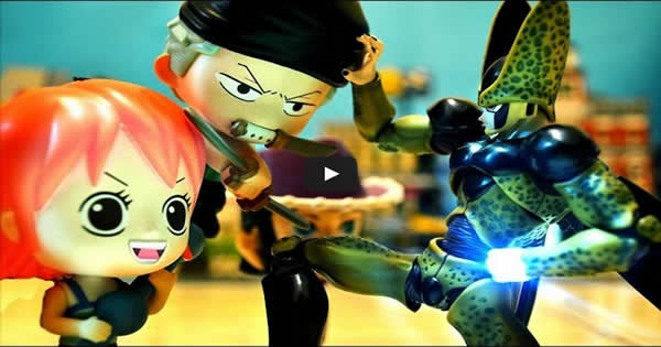 One Piece VS Dragon Ball – Stop Motion - one piece