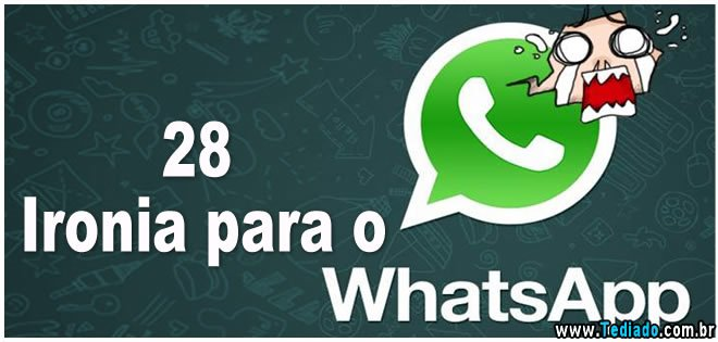 Photo of 28 Ironia para o Whatsapp