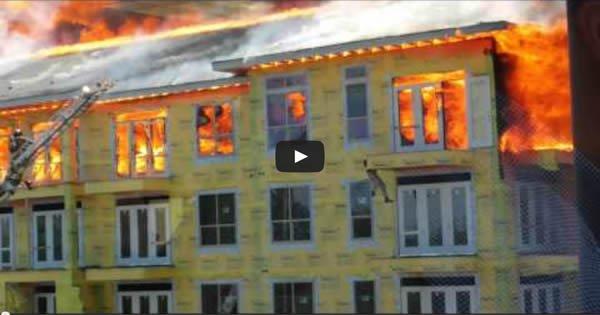 Escapando de um apartamento em fogo com estilo 1