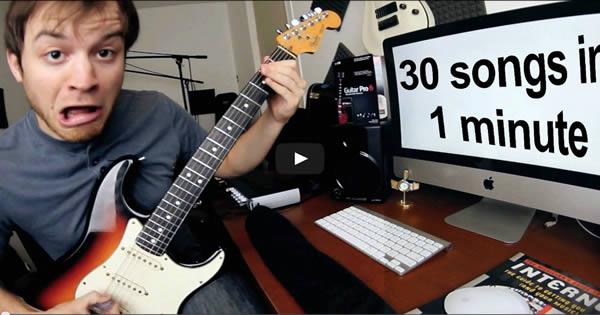 30 riffs musicais em apenas 1 minuto 1