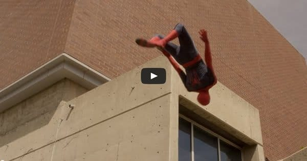 Photo of Parkour com Homem Aranha