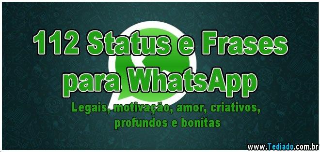 Frases Curtas Para Whatsapp: +600 Status E Frases Para Whatsapp Motivação, Amor