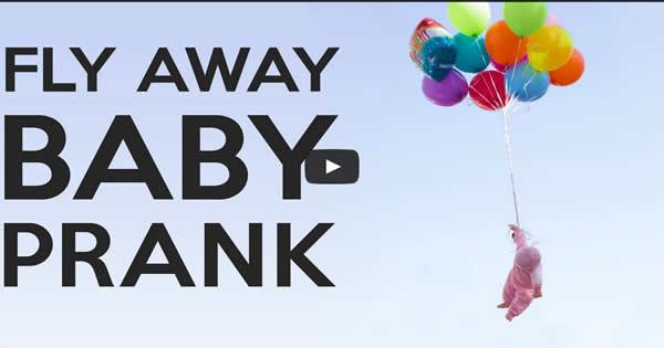 Pegadinha: Bebê sai voando 3