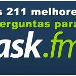 As 211 melhores Perguntas para Ask.fm 2014