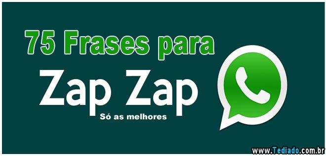 75 Frases Para Zap Zap Só As Melhores Blog Tediado