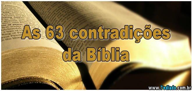 As 63 contradições da Bíblia 1