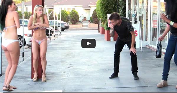 Pegadinha: Rapaz tira roupa das mulheres com espirro 1