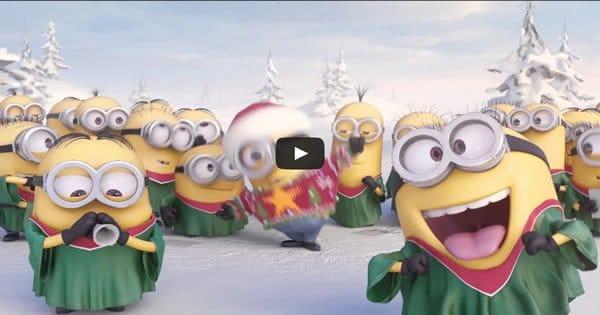 Minions cantam músicas de Natal para você 2