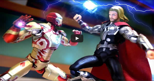 motion - iron man vs thor - Stop Motion – Iron Man VS Thor