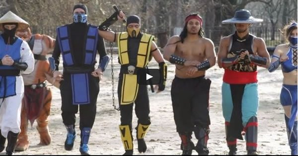 Mortal Kombat VS Street Fighter: Épica batalha de dança