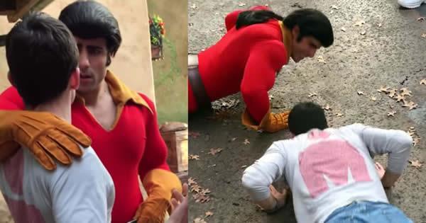 Rapaz desafia Gaston em um duelo de flexões 5