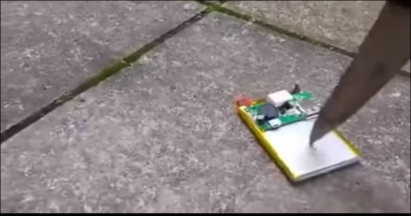O que acontece quando se fura uma bateria de celular 5