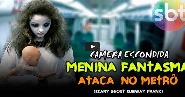 Pegadinha - Menina Fantasma Ataca no Metrô 4