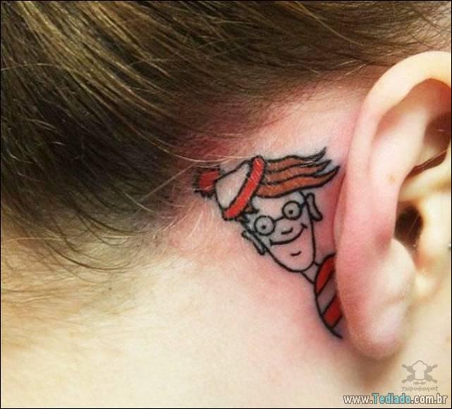 26 Tatuagens originais em orelhas 2