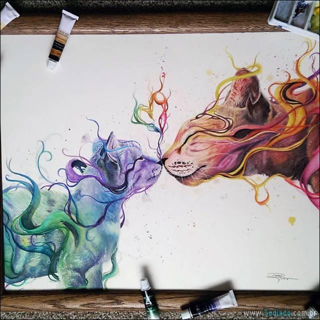 Artista mexicano criar arte deslumbrantes com lápis 22