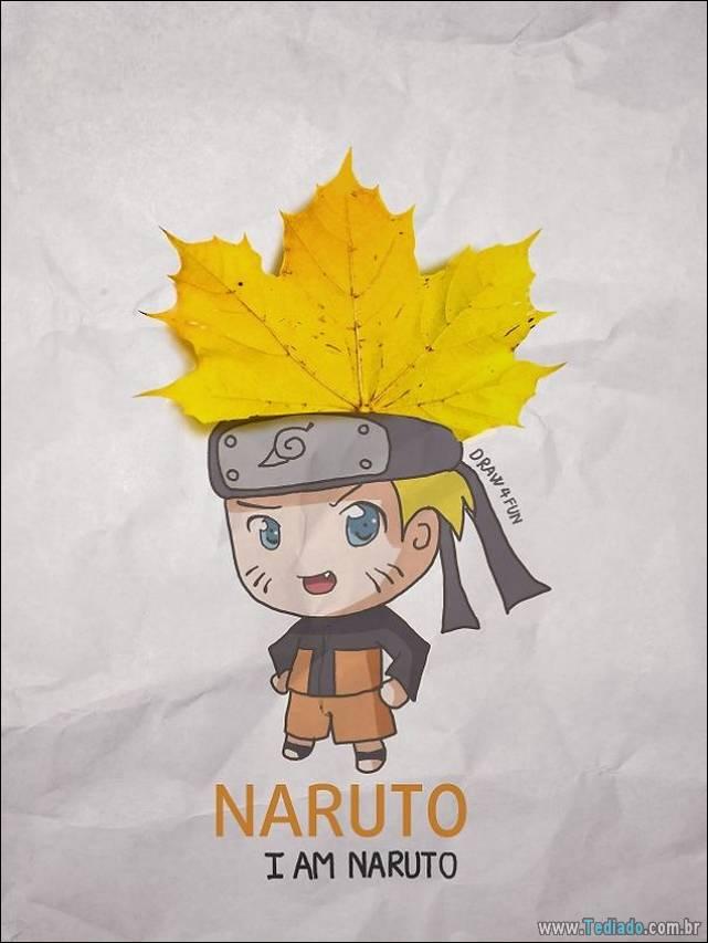 A incríveis ilustrações com os personagens do anime Naruto 7