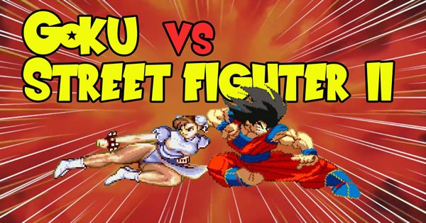 street fighter - goku street fighter - Goku VS Street Fighter 2