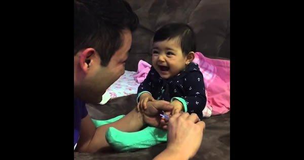 Momento Cut Cut #19 - Pai tenta cortar a unha do bebê 8