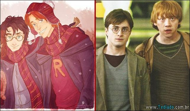 Personagem do Harry Potter – Livro e Filme - harry potter livro filme 18