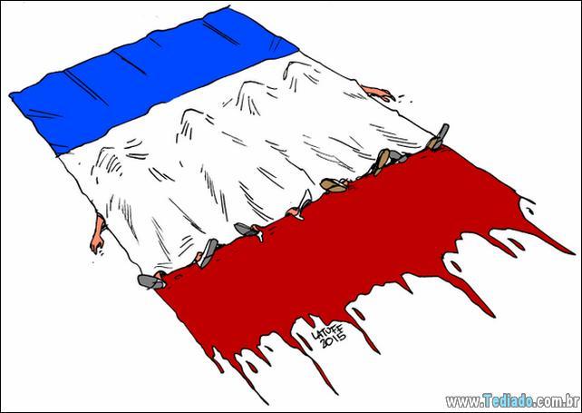 12 obras de arte comoventes em homenagem às vítimas de Paris 2