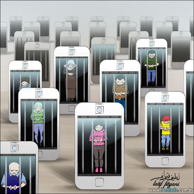 38 ilustrações satíricas mostrando nossa dependência da tecnologia 2