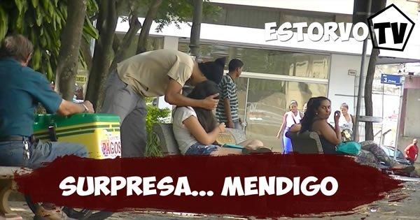 Pegadinha - Mendigo fazendo surpresa 7