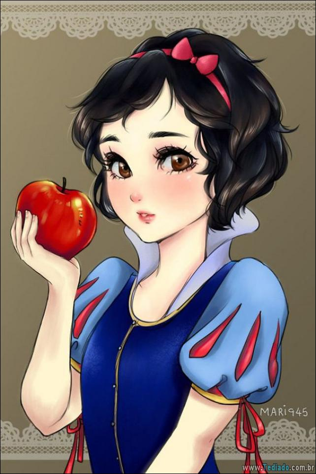 As Princesas da Disney como personagens de Anime 2